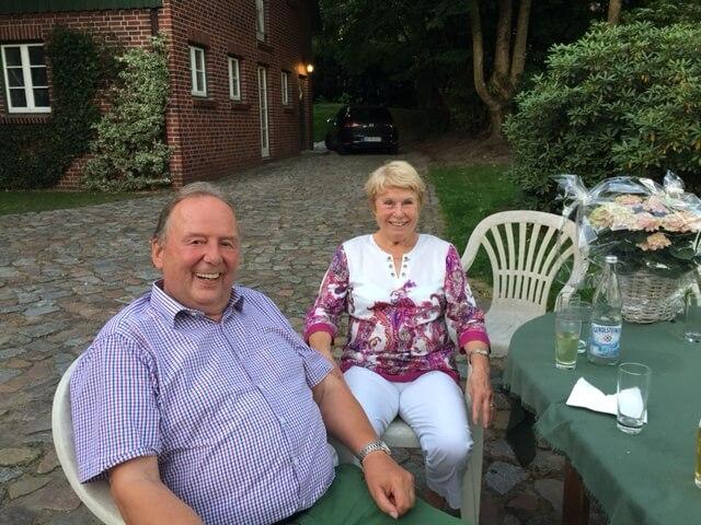 Elke und Olaf Haht auf dem Heinshof