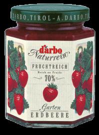 """Gartenerdbeer Konfitüre mit 70% Frucht von Darbo aus dem Hofladen """"chick-inn"""""""