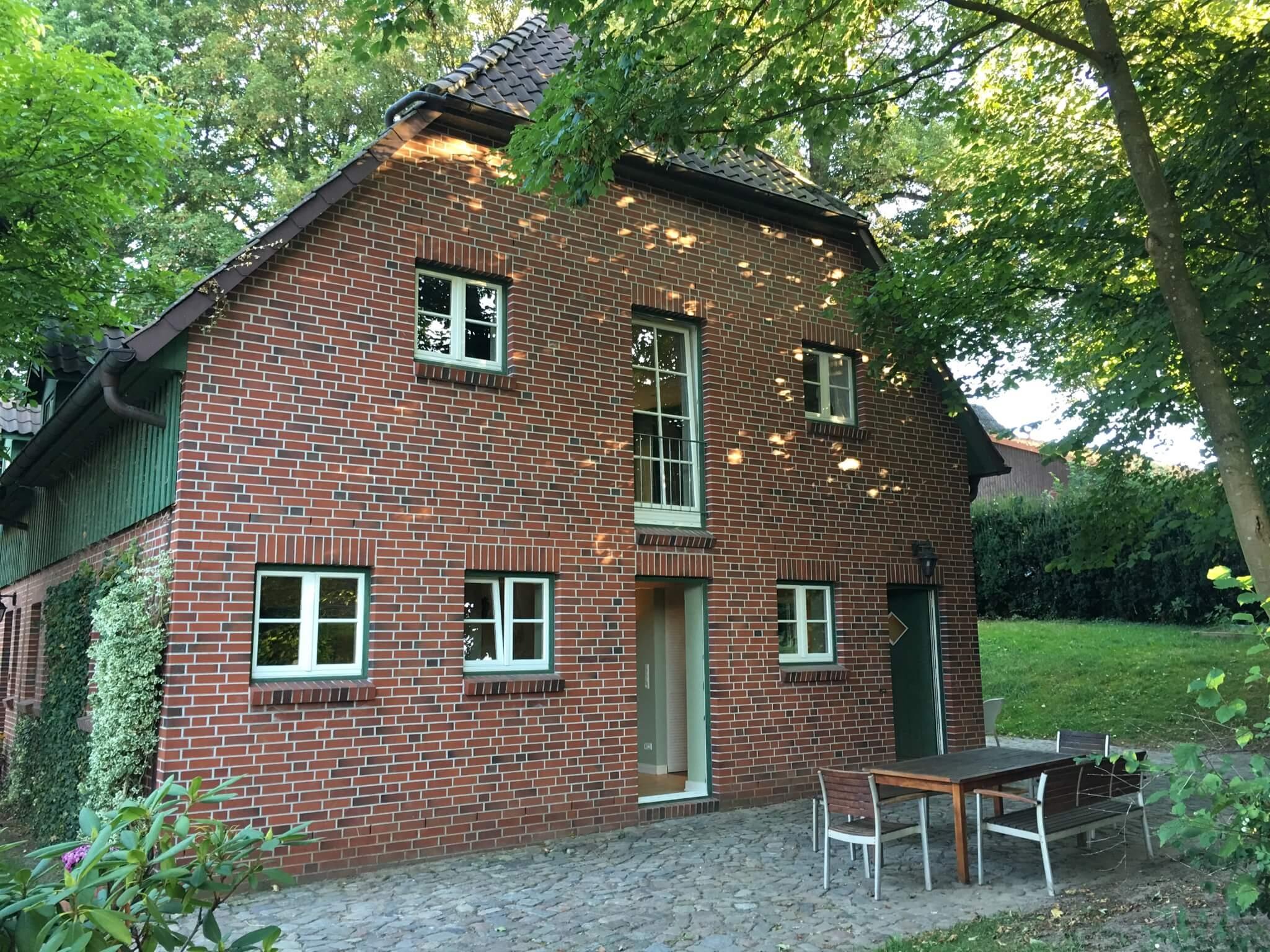 Ferienwohnungen Max und Moritz mit Terrasse auf dem Ferienhof in der Lüneburger Heide