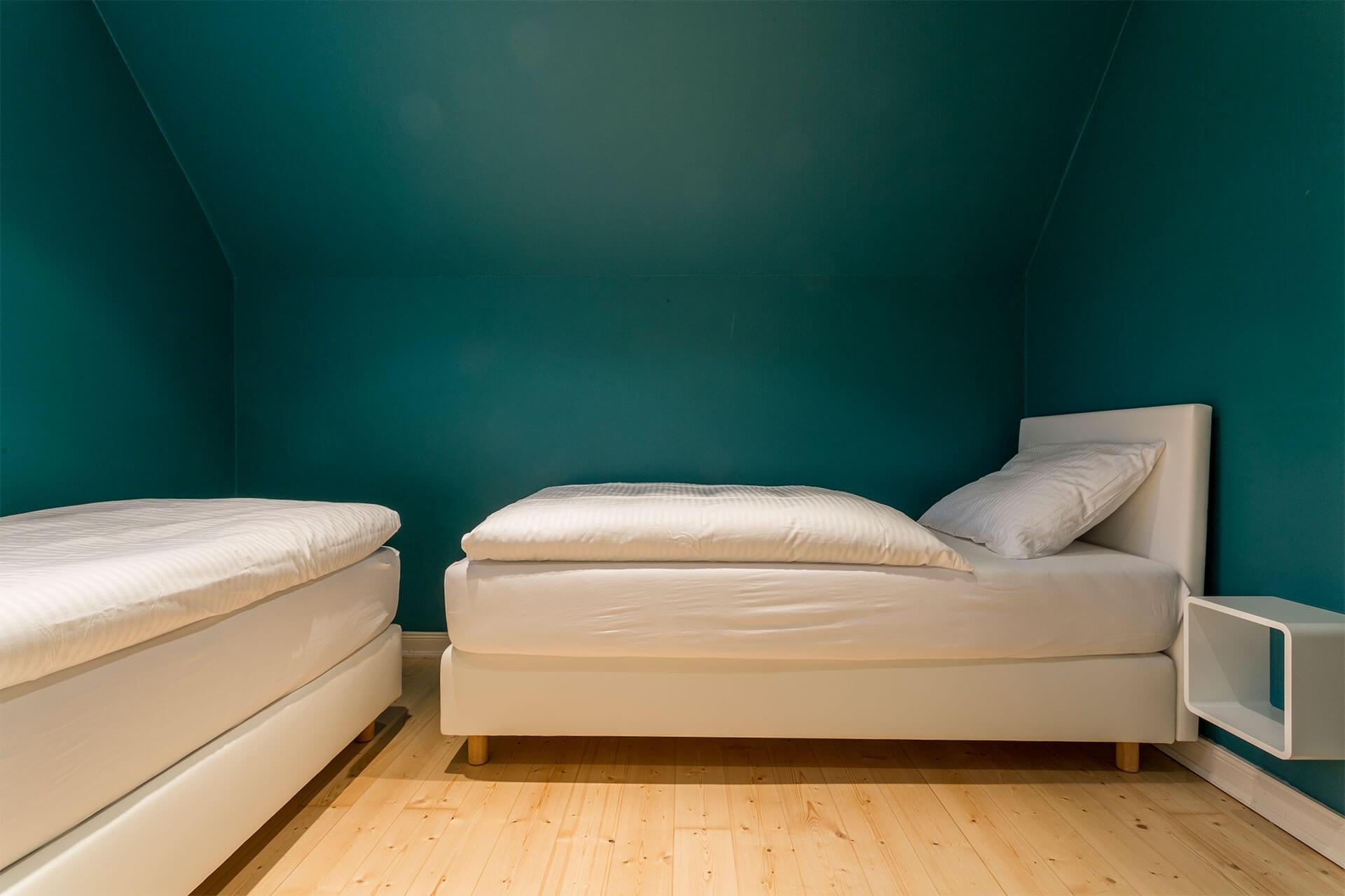 Einzelbetten in Apartment Max auf dem Heinshof