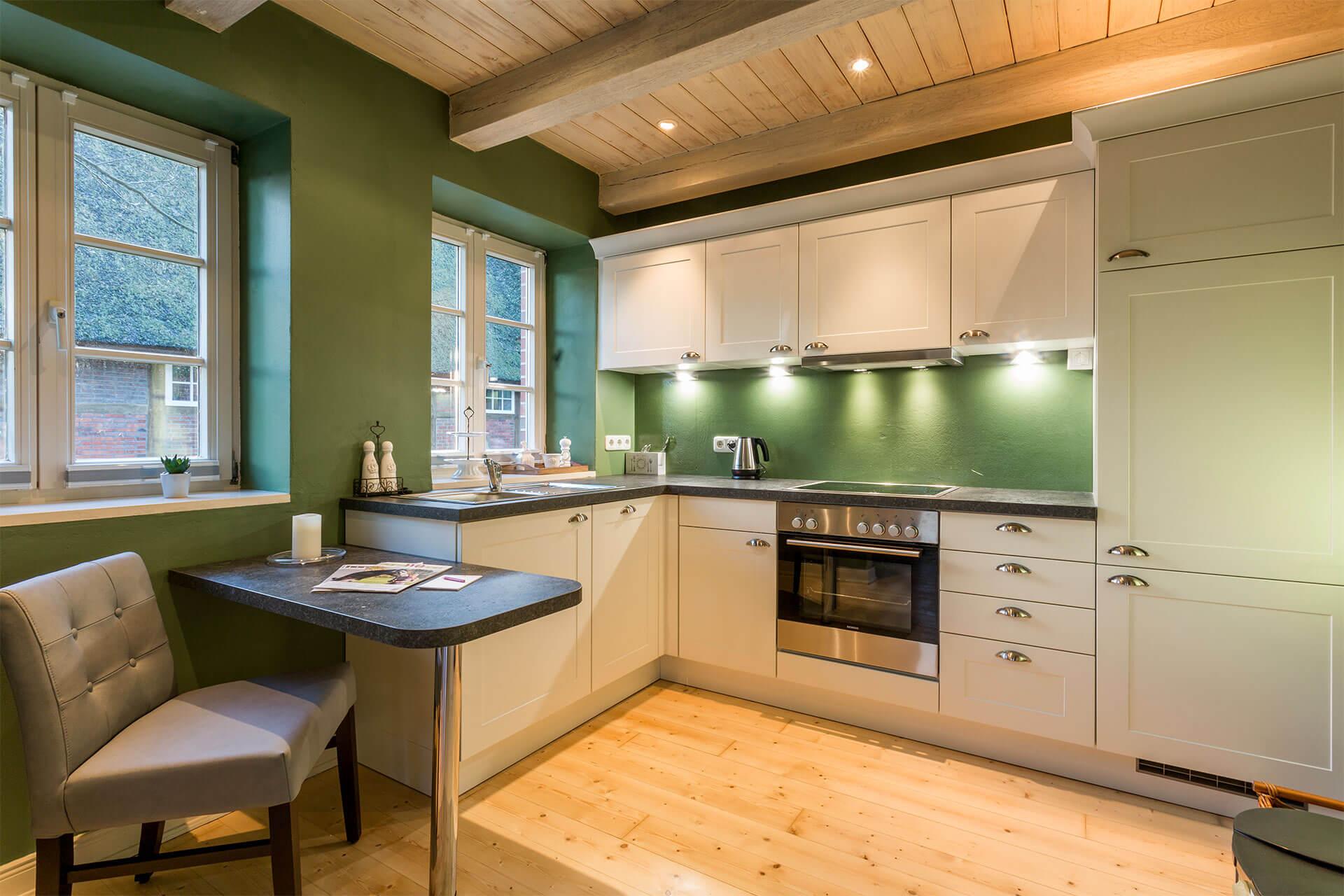 Siemens Geräte in der Landhausküche in Ferienwohnung Moritz