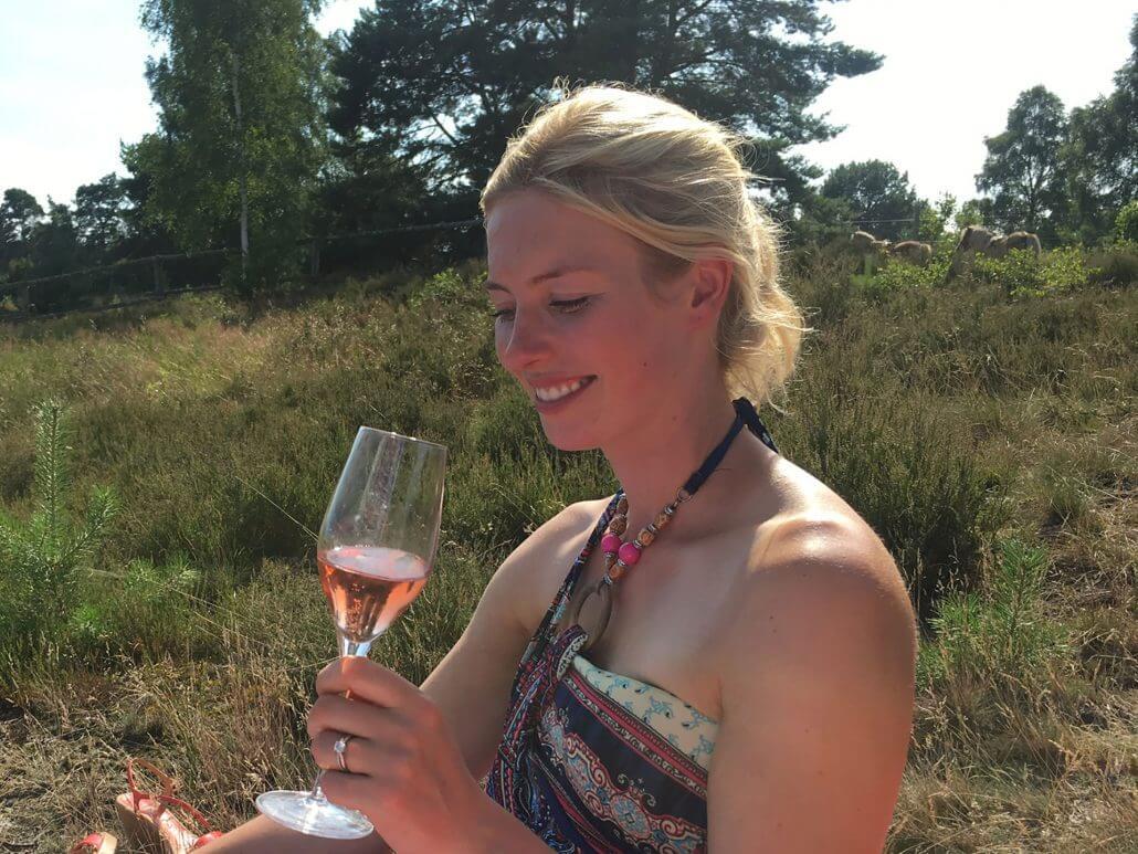 Champagner aus dem Hofladen des Reiterhofs