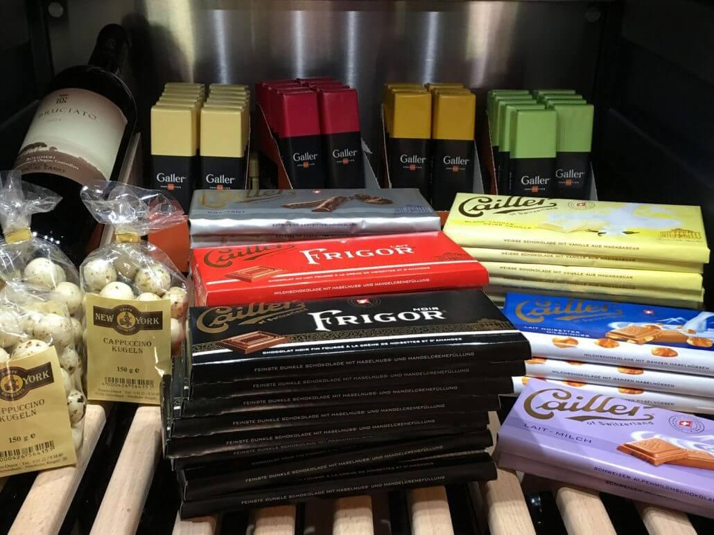 verschiedene Schokoladen aus dem Hofladen des Reiterhofs